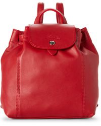 Longchamp - Cherry Le Pliage Cuir Backpack - Lyst