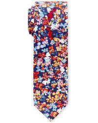 Original Penguin - Navy Abstract Floral Slim Tie - Lyst