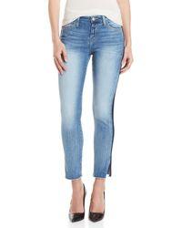 Flying Monkey - Tuxedo Stripe Mid-rise Skinny Jeans - Lyst