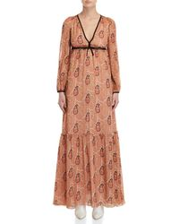 Giamba - Paisley Print Empire Waist Maxi Dress - Lyst