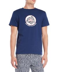 Le Mont St Michel - Navy Graphic Tee - Lyst