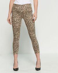 e833dc643d34 MICHAEL Michael Kors Savannah Leopard Print Jeans - Lyst
