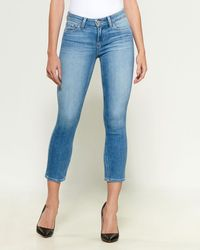 PAIGE Cropped Skinny Jeans - Blue