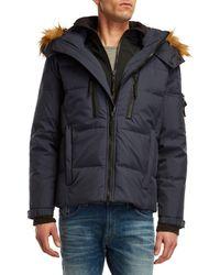 S13/nyc - Faux Fur Trim Down Coat - Lyst