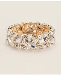 Natasha Couture Gold-tone Embellished Bracelet - Metallic
