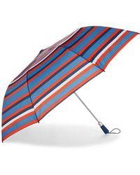 Nautica Striped Auto Open Umbrella - Blue