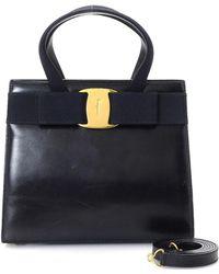 Ferragamo - Black Handbag - Vintage - Lyst