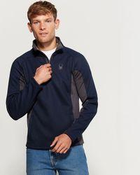 Spyder Long Sleeve Bonded Quarter-zip Jacket - Blue