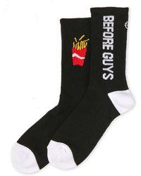 Sockart - Fries Before Guys Crew Socks - Lyst