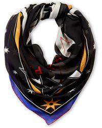 Givenchy Black Iconic Flash Silk Shawl