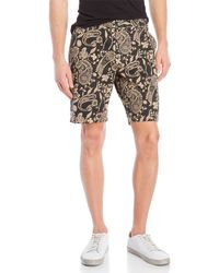 Scotch & Soda - Printed Flat Front Shorts - Lyst