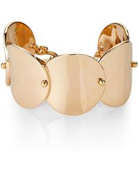 Eddie Borgo - Gold-tone Wide Pin Pailette Cuff Bracelet - Lyst