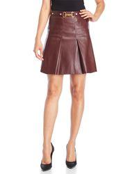 Bagatelle Faux Leather Skirt - Multicolor