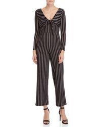 9812a126bb1 Derek Heart - Striped Tie-front Jumpsuit - Lyst