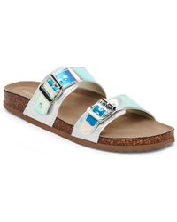 77f3ce8a0a70f2 Madden Girl - Iridescent Brando Footbed Sandals - Lyst
