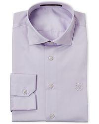 Roberto Cavalli - Lilac Comfort Fit Dress Shirt - Lyst