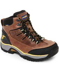 6ff7e9e8fb5 Taupe & Black Bristol Steel Toe Work Boots