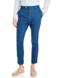 Mens Baron Cotton-Linen Trousers Max tKl7EXGYrN