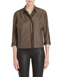 Demoo Parkchoonmoo - Leather Trim Cropped Jacket - Lyst
