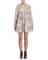 Giamba - Printed Tiered Mini Dress - Lyst