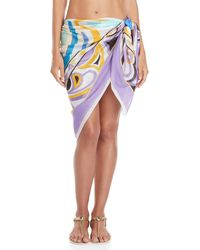 Emilio Pucci - Purple Printed Wrap Cover-up Skirt - Lyst
