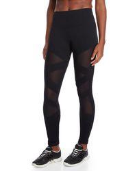 90 Degree By Reflex - Black Mesh Panel Leggings - Lyst
