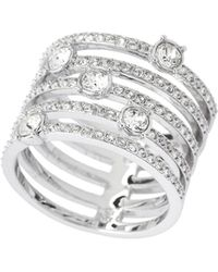 Swarovski - Silver-tone Creativity Wide Ring - Lyst