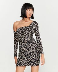 Roberto Cavalli - Leopard One-should Mini Dress - Lyst