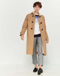 Le Mont St Michel Toggle Trench Coat - Natural