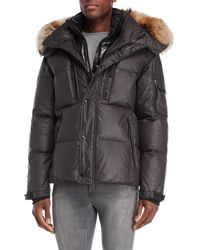 Sam. - Lodge Real Fur Trim Hooded Down Coat - Lyst