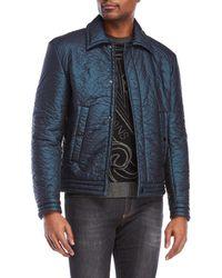 Versace - Crinkled Coat - Lyst