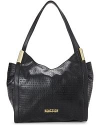 Kenneth Cole Reaction - Black Metal Hardware Embossed Hobo - Lyst