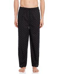 Tommy Hilfiger Dark Navy Logo Print Sleepwear Pants - Black