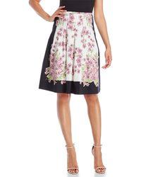 Samantha Sung - Violet Print Pleated Skirt - Lyst