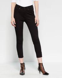 Workshop Petite Five-pocket Skinny Jeans - Black