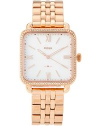 Fossil - Es4269 Rose Gold-tone Micah Watch - Lyst