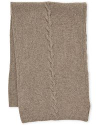 Portolano - Cashmere Cable Knit Scarf - Lyst