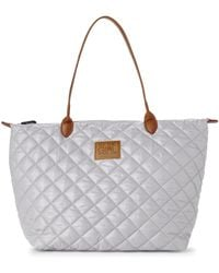 It's The Girl By Junior Drake | Silver Quilted Tote | Lyst