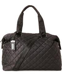 Lyst - Steve madden Quilted Black Weekender Bag in Black for Men : quilted weekender bag - Adamdwight.com