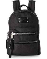 Adrienne Vittadini - Black High-Density Nylon Mini Backpack - Lyst