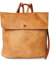 Moda Luxe Tan Journey Woven Backpack - Brown
