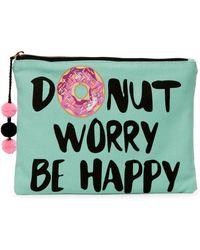 Twig & Arrow - Donut Worry Zip Pouch - Lyst