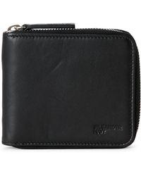 Jil Sander Navy Black Zip Around Wallet