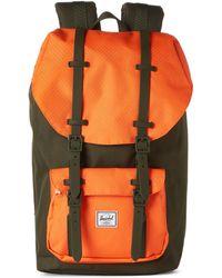 ef355e793ae Herschel Supply Co. - Forest Green   Vermillion Orange Little America  Backpack - Lyst
