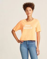 Project Social T Neon Fire Sun Kissed Tee - Orange