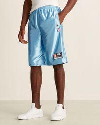 Alexander Wang High Shine Jersey Shorts - Blue