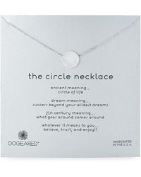Dogeared - Sterling Silver Circle Charm Necklace - Lyst