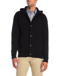 Victorinox - Hooded Wool-Blend Knit Coat - Lyst