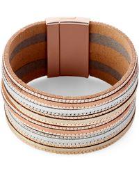 pannee by panacea Metallic Multi-strand Bracelet