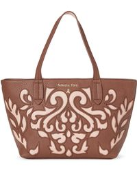 Patrizia Pepe - Brown & Rose Cutout Tote - Lyst